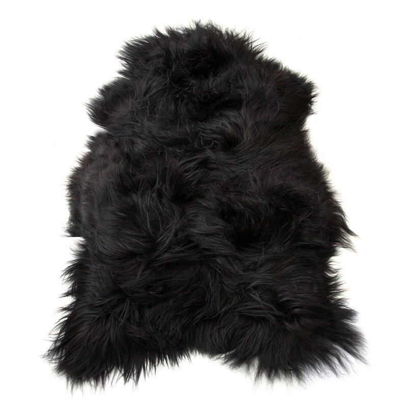 Icelandic Pelt Black Area Rug