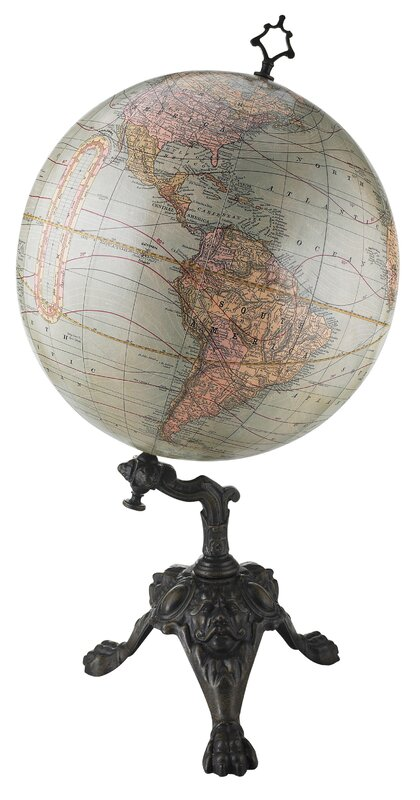 Chicago 1887' Globe with Stand