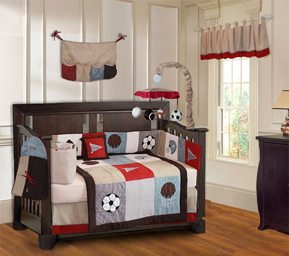 Go Team Sports 10 Piece Crib Bedding Set