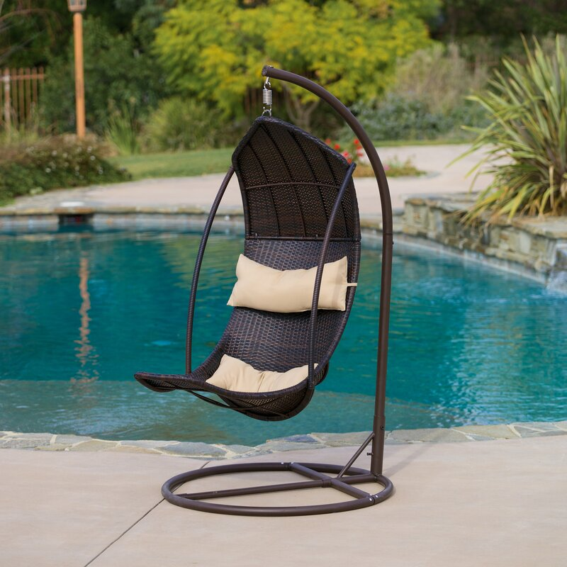 Heyward Wicker Swing Chair with Stand