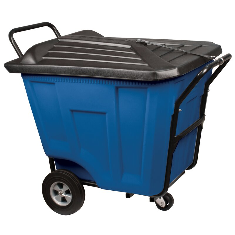 90 Gallon Curbside Trash & Recycling Bin