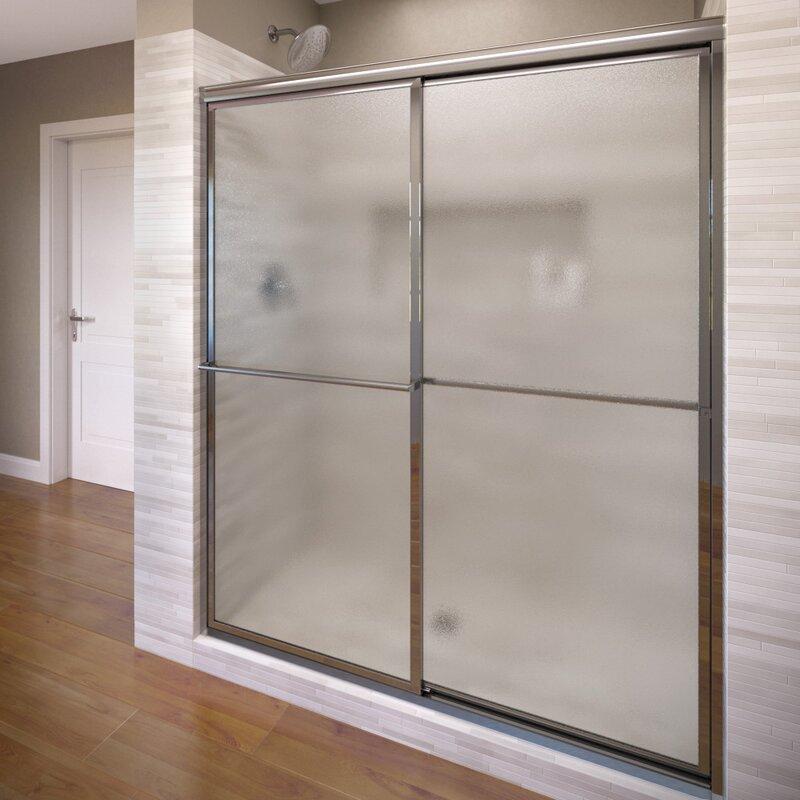 """Deluxe 44"""" x 68"""" Bypass Framed Shower Door"""