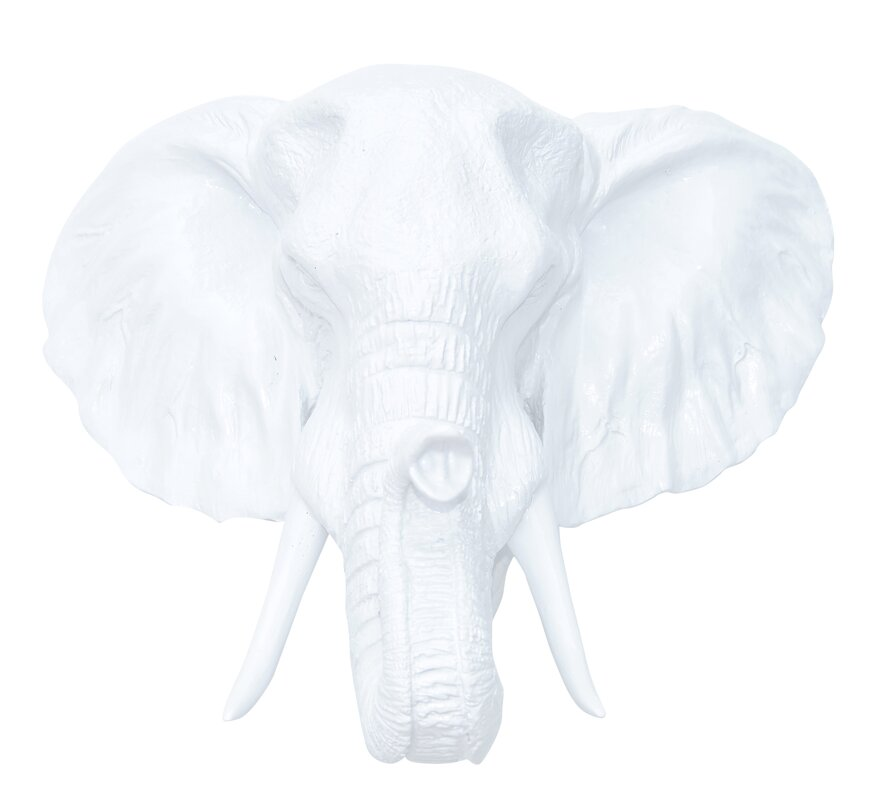 Resin Elephant Head Faux Taxidermy