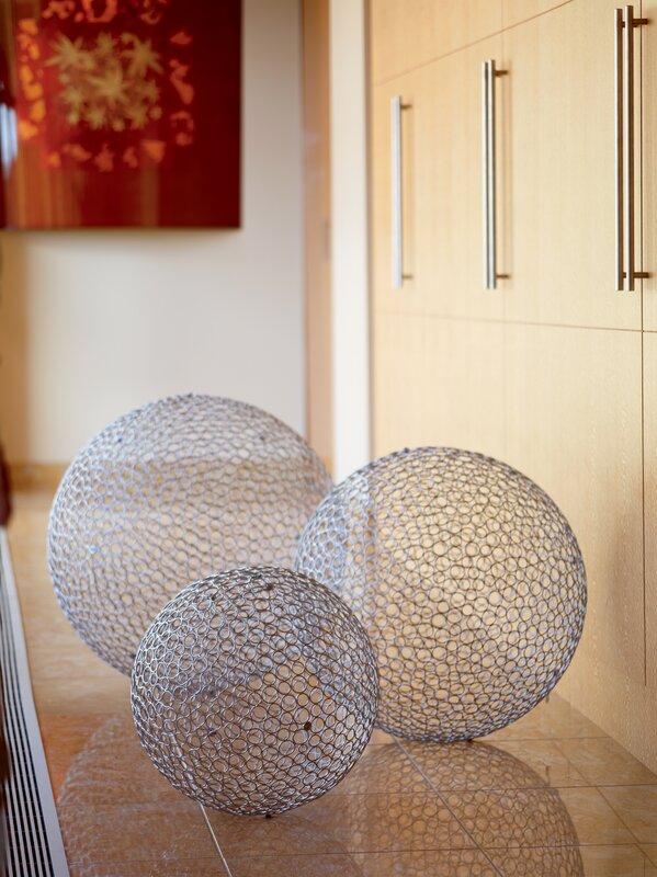 3 Piece Huge Iron Decorative Ball Set