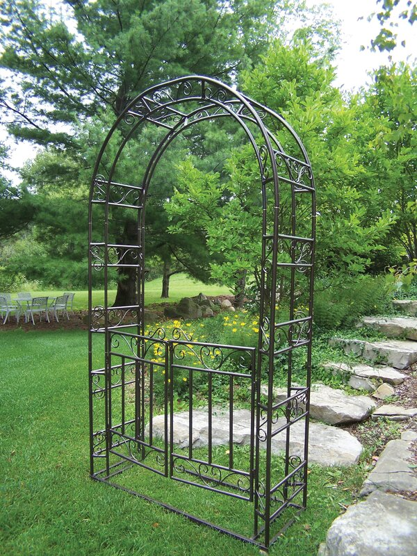 Steel Arbor with Gate and Base