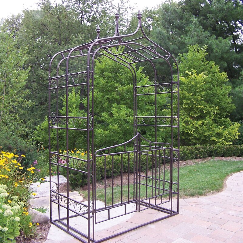 Gothic Iron Arbor with Gate