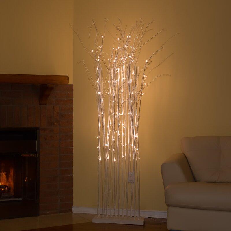 110 LED Light Birch Tree