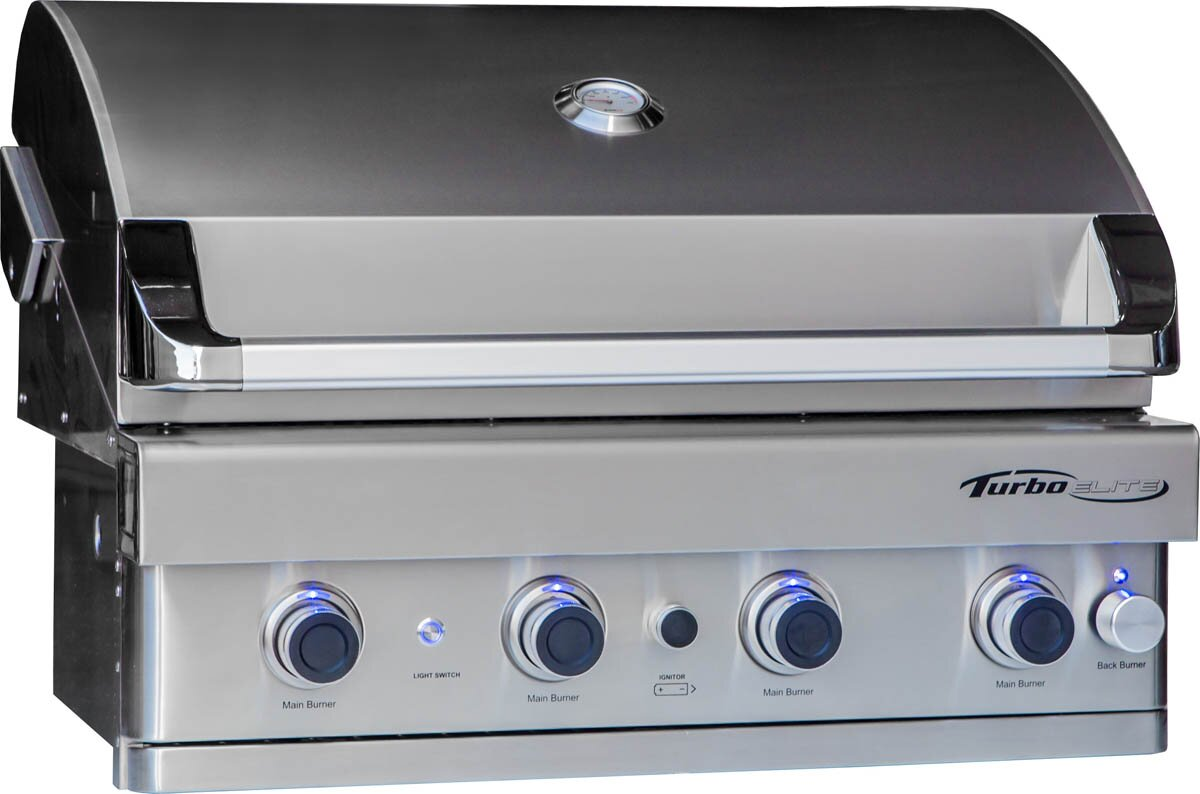 "Turbo Elite 4-Burner 32"" Built-In Gas Grill"