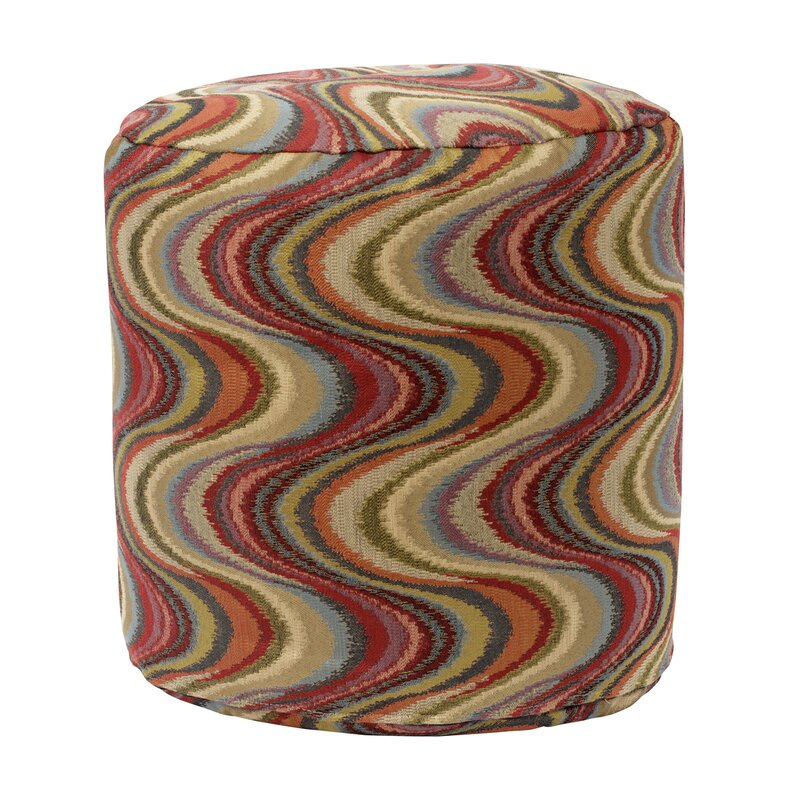 Frequency Tomato Tapestry Pouf