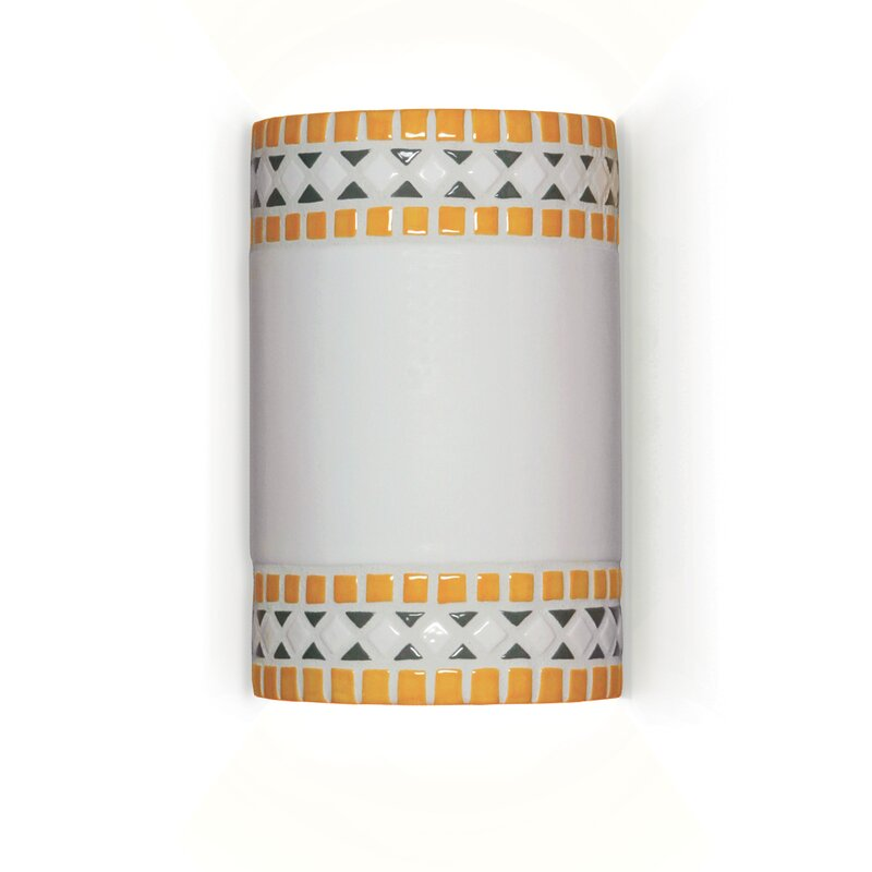 Mosaic Borders 1-Light Wall Sconce