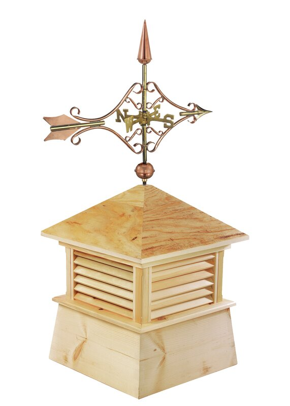 Kent Wood Cupola with Victorian Arrow Weathervane