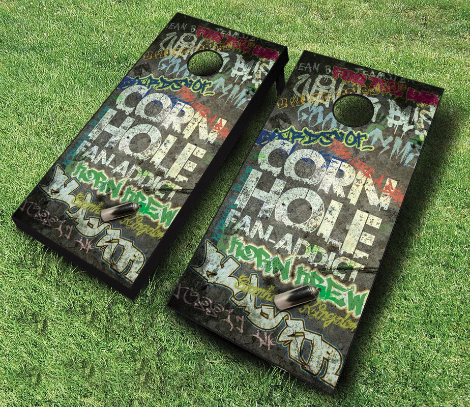 2' x 4' Fan Addict Solid Wood Cornhole Board