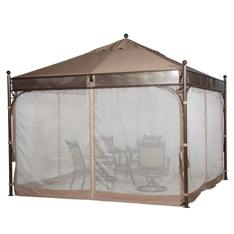 11.5 Ft. W x 11.5 Ft. D Metal Patio Gazebo