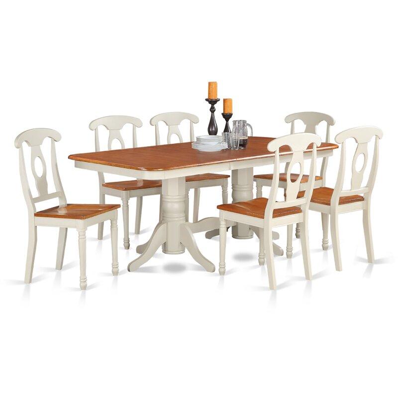Pillsbury 7 Piece Dining Set with Rectangular Table Top