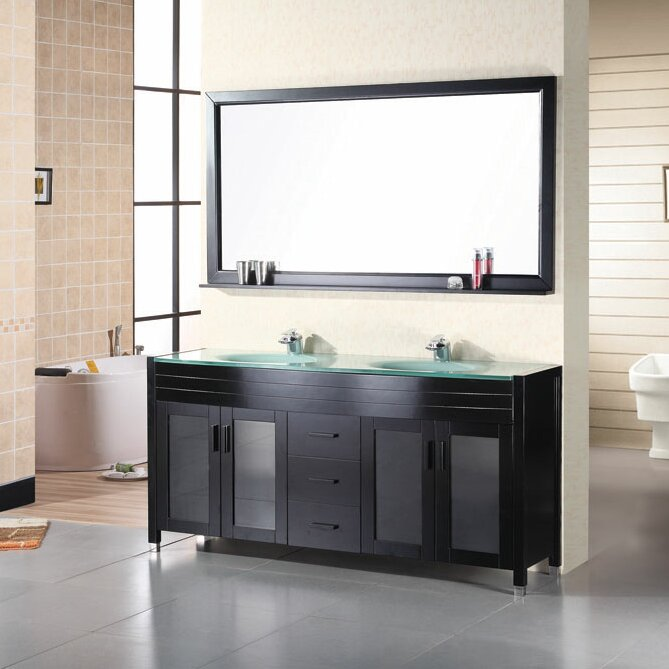 "Remi 71"" Double Bathroom Vanity Set with Mirror"