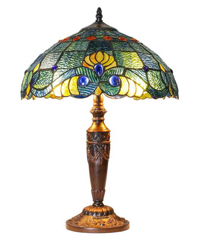 "Criner Swirling Shells Tiffany 20.5"" Table Lamp"