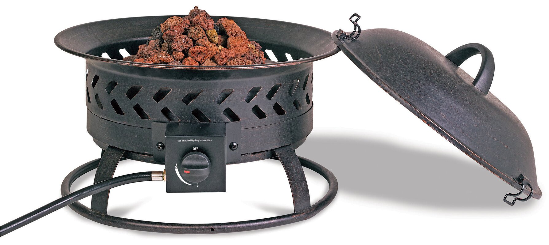 Steel Propane Outdoor Fire Pit