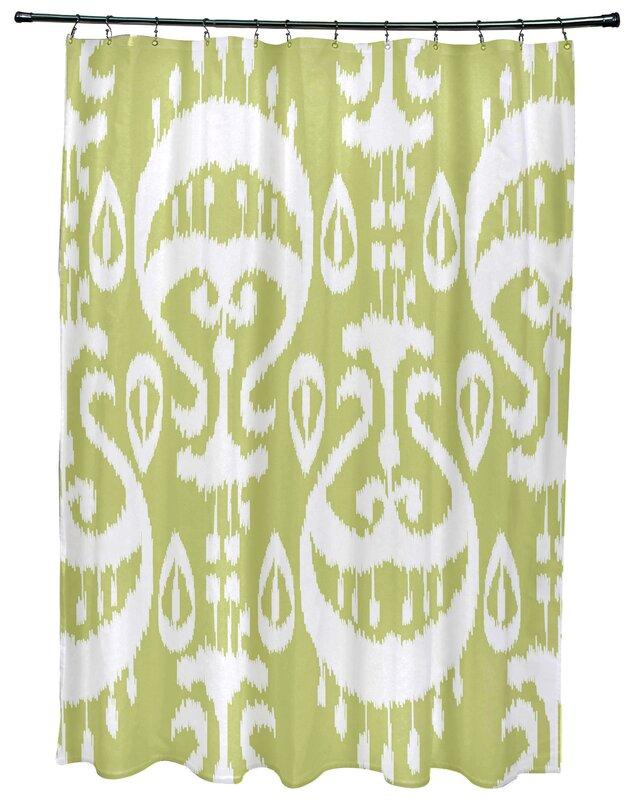 Meetinghouse Ikat Geometric Print Single Shower Curtain