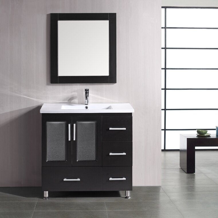 "Pratt 36"" Single Bathroom Vanity Set with Mirror"