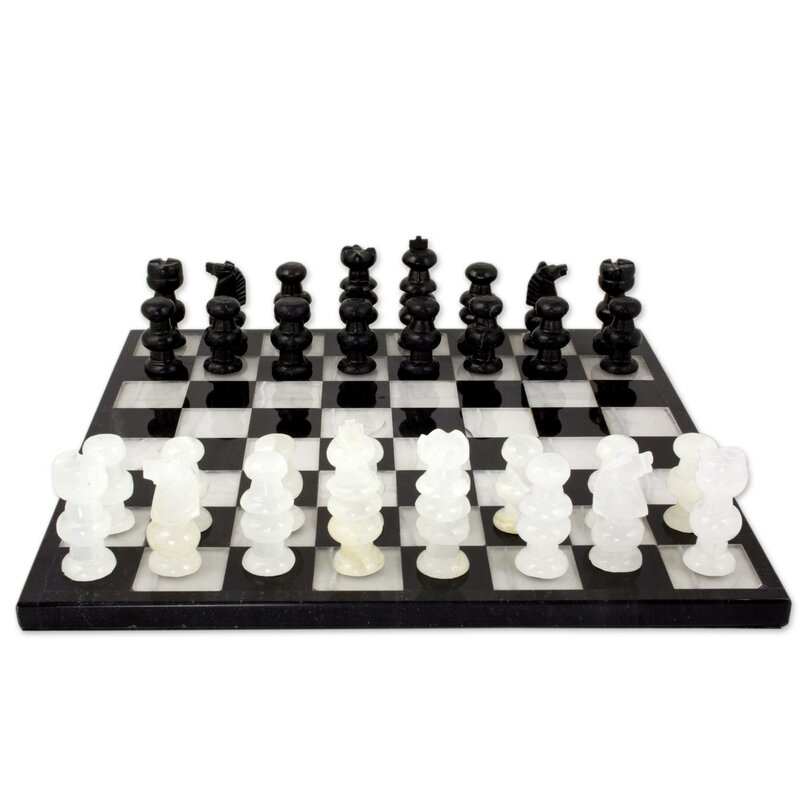 Fair Trade light dark contemporary hand carved expensive ideas under 120 game traditional best cute modern board  Mexican Onyx and Marble Chess Set