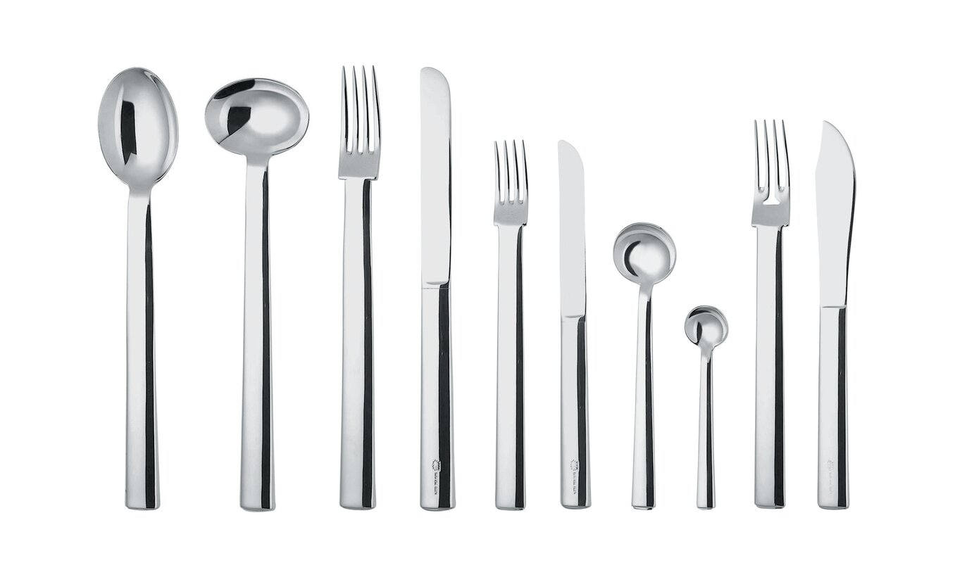 Rundes modell 24 Piece 18/10 Stainless Steel Flatware Set Service for 24