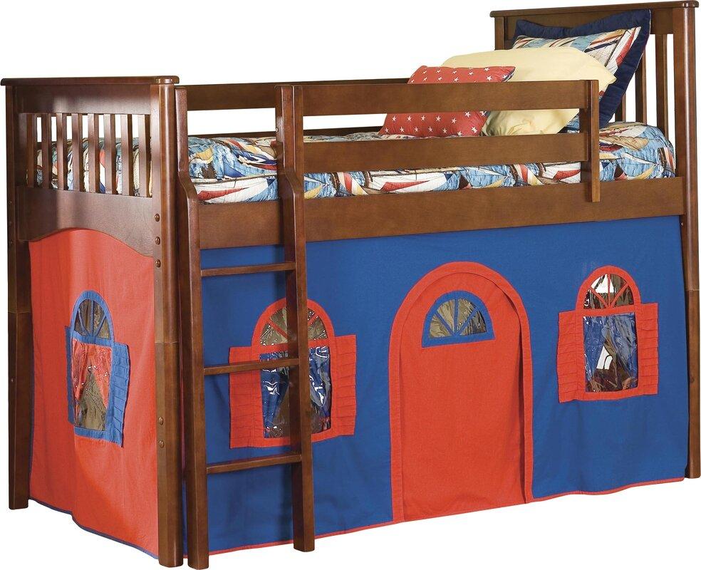 Bonneau Twin Low Loft Solid Wood Bed