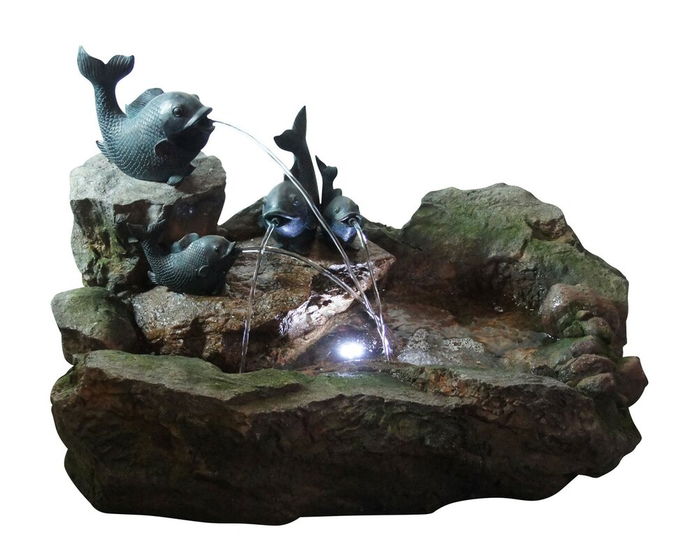 Natural Stone Fountain with LED Light