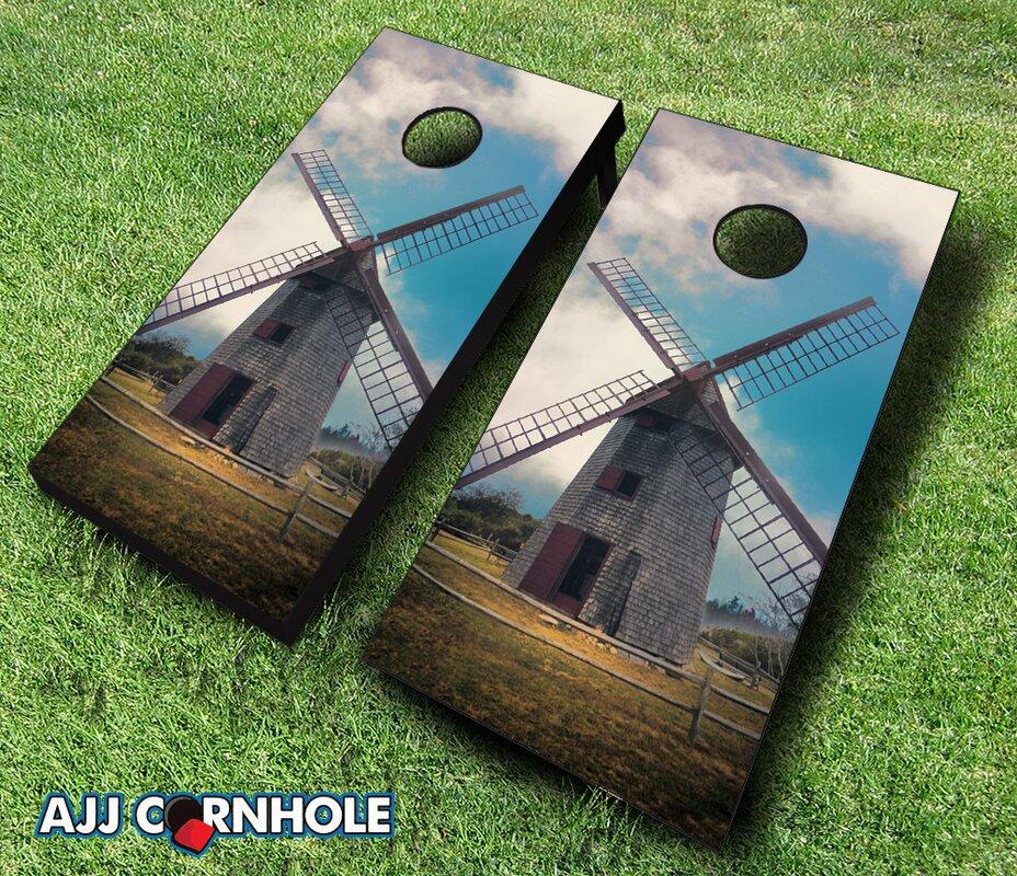 Nantucket Island Windmill Cornhole Set