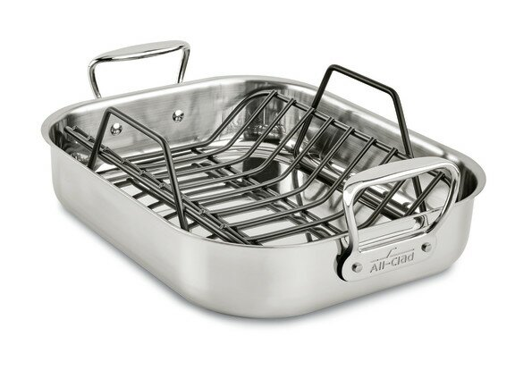 "All-Clad Specialty Cookware 11"" Small Roaster with Rack"
