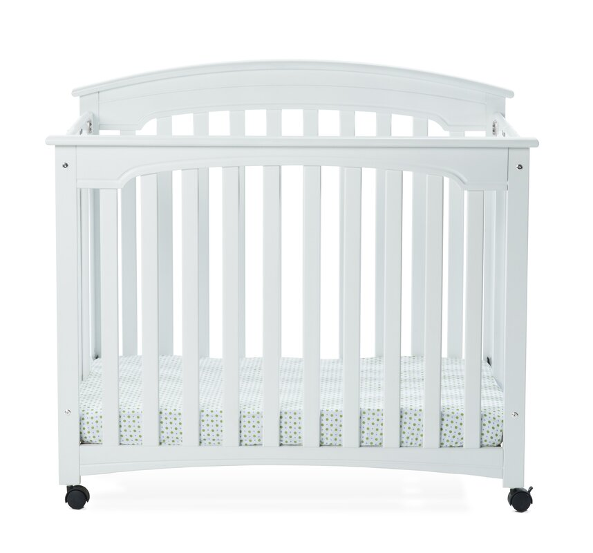 Stanford Folding Mini Portable Crib with Mattress