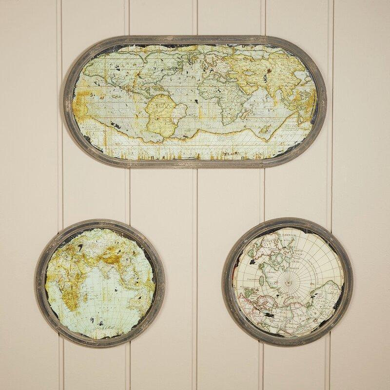 Atlas Wall Art (Set of 3)