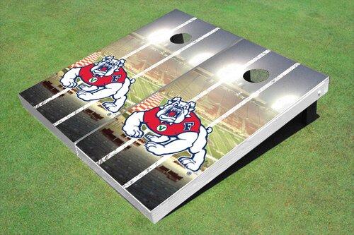 NCAA 10 Piece Stadium Long Strip Cornhole Board Set