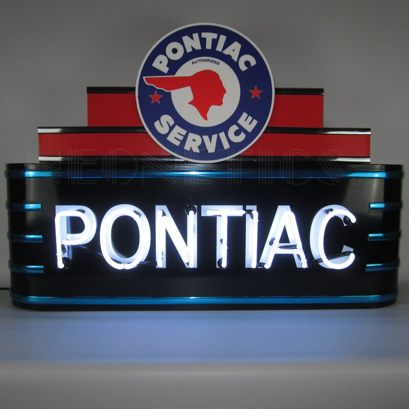 Art Deco Marquee Pontiac Neon Sign