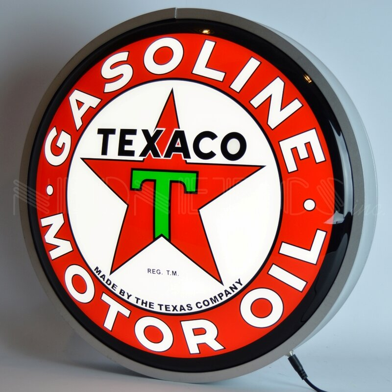 Texaco Motor Oil Backlit LED Sign