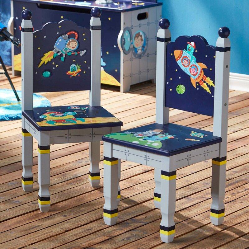 Outer Space 2 Piece Kids Desk Chair Set