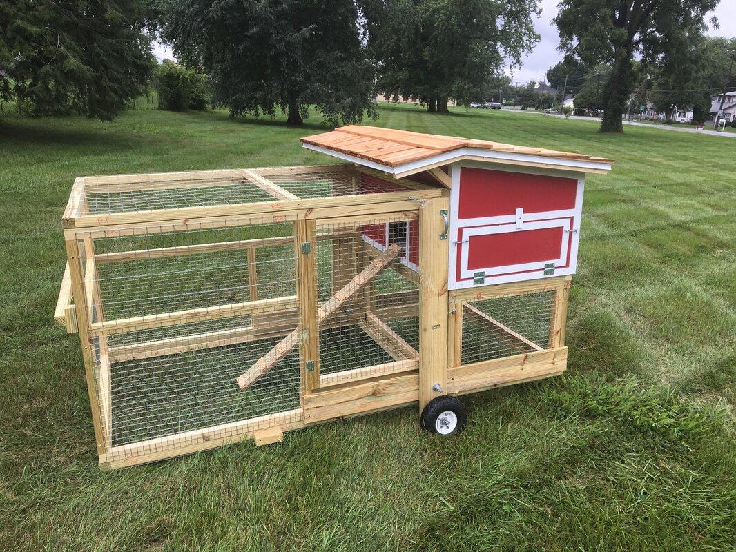 The Bertha Chicken Coop with Chicken Run