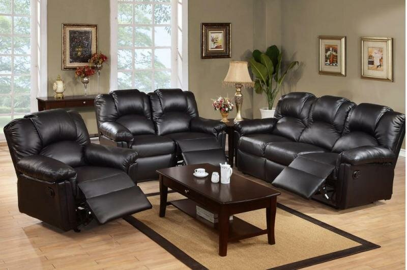 Gail Reclining 3 Piece Living Room Set