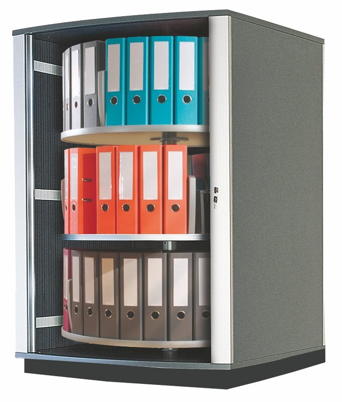 "Lockfile Binder and File Carousel Cabinet 51"" H Three Shelf Shelving Unit"