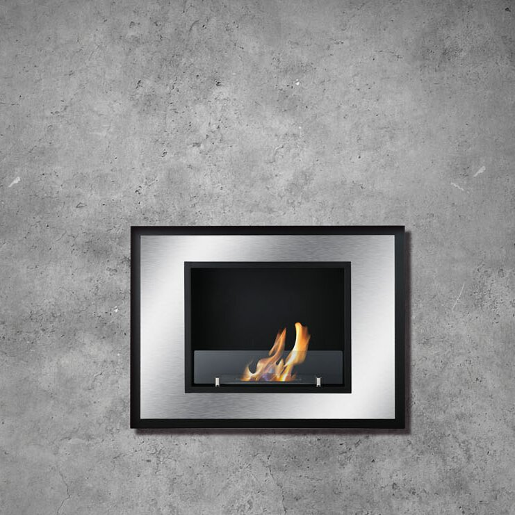 Bellezza Mini Recessed Wall Mounted Ethanol Fireplace