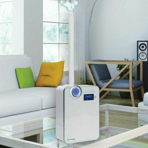 PureGuardian 1.32 Gal. Cool and Warm Mist Ultrasonic Console Humidifier