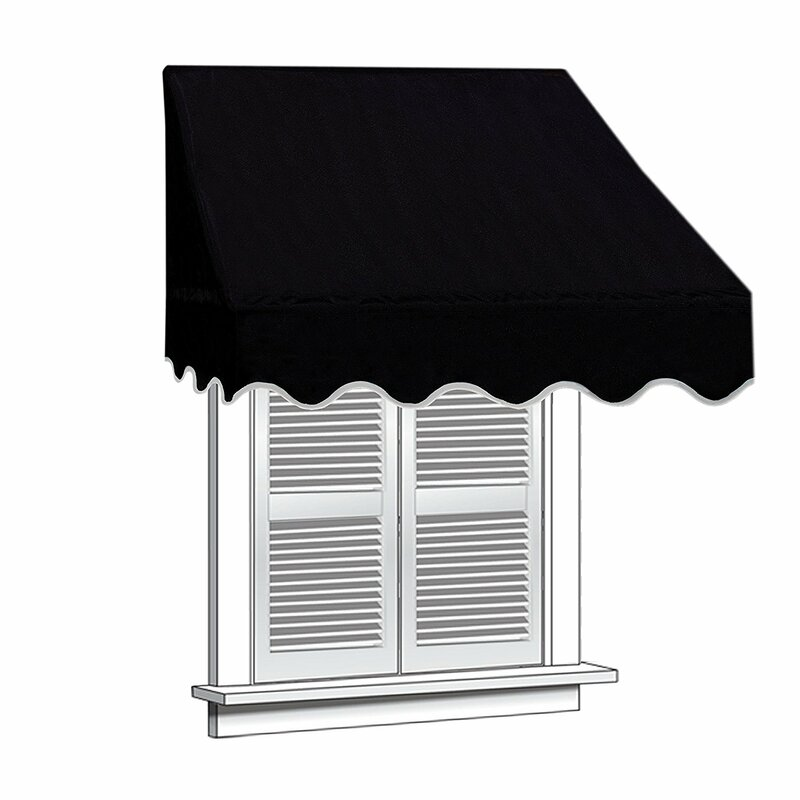 6 ft. W x 2 ft. D Window Awning