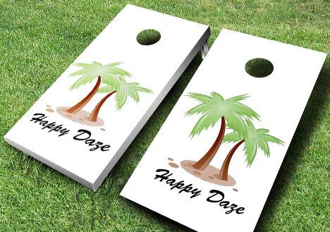 Personalized Palm Tree Cornhole Set