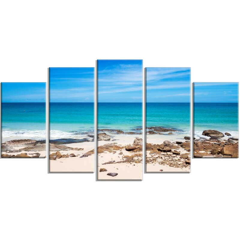 'Beach at Samed Island Thailand' 5 Piece Photographic Print on Wrapped Canvas Set