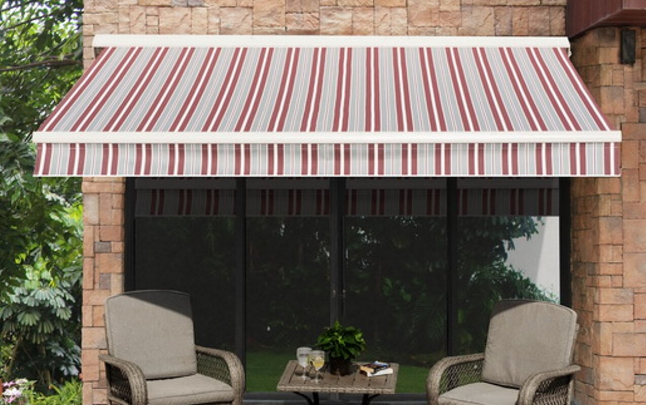 14 ft. W x 10 ft. D Retractable Patio Awning