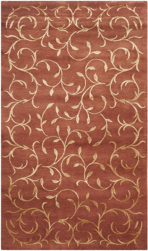 Echevarria Hand-Knotted Silk Rust/Gold Area Rug