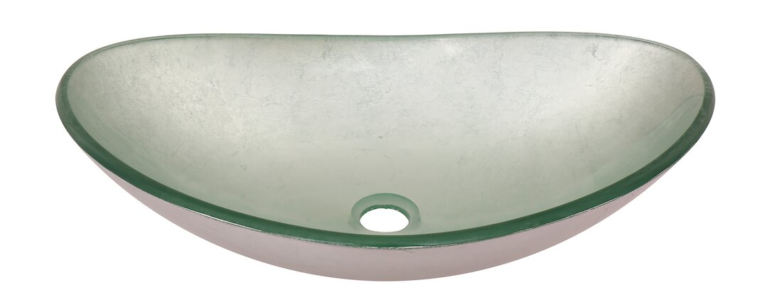 Argento Glass Oval Vessel Bathroom Sink