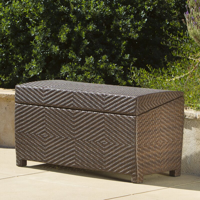 Hetzel 150 Gallon Wicker Deck Box