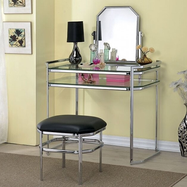 Colleen Vanity Set With Mirror