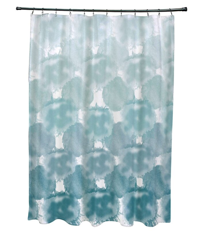 Viet Single Shower Curtain with 12 Button Holes