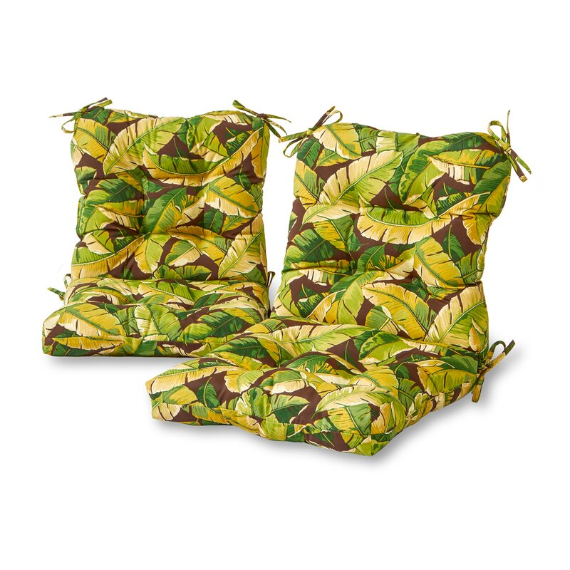 Sundberg Palm Leaves Indoor/Outdoor Lounge Chair Cushion (Set of 2)